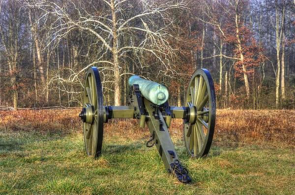 Artillery Brigade Photograph - War Thunder - 1st New York Light Artillery-a1 Battery D The Wheatfield Gettysburg by Michael Mazaika