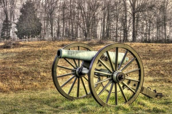 Artillery Brigade Photograph - War Thunder - 1st New York Light Artillery-b1 Battery D The Wheatfield Late Winter Gettysburg by Michael Mazaika