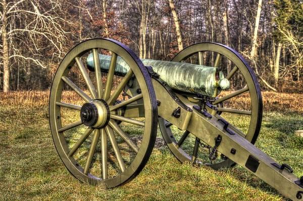 Artillery Brigade Photograph - War Thunder - 1st New York Light Artillery-c2 Battery D The Wheatfield Late Winter Gettysburg by Michael Mazaika