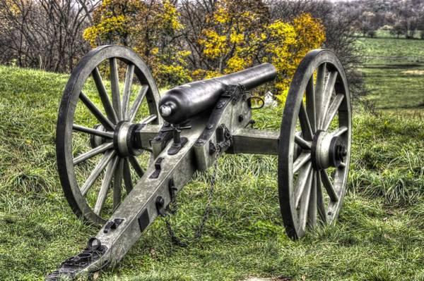 Artillery Brigade Photograph - War Thunder - 1st Pa Light Artillery Ricketts Batteries F And G East Cemetery Hill Gettysburg by Michael Mazaika