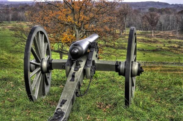 Artillery Brigade Photograph - War Thunder - 1st Pennsylvania Light Artillery Coopers Battery B East Cemetery Hill Gettysburg  by Michael Mazaika