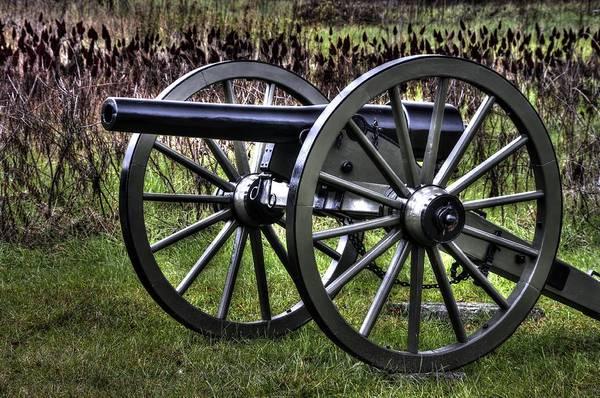 Artillery Brigade Photograph - War Thunder - 4th New York Independent Battery 1a - In The Slaughter Pen Near Devils Den Gettysburg by Michael Mazaika