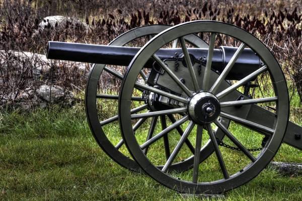 Artillery Brigade Photograph - War Thunder - 4th New York Independent Battery 2a - In The Slaughter Pen Near Devils Den Gettysburg by Michael Mazaika