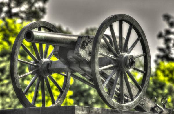 Artillery Brigade Photograph - War Thunder - 5th Ny Independent Battery 1st Excelsior Light Artillery Gettysburg National Cemetery by Michael Mazaika