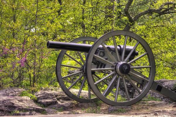 Artillery Brigade Photograph - War Thunder - 5th United States Artillery Hazletts Battery - Little Round Top Gettysburg Spring by Michael Mazaika