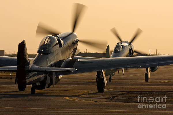 Hawker Sea Fury Photograph - Warbirds Taxi Out For A Sunset Flight by Rick Pisio