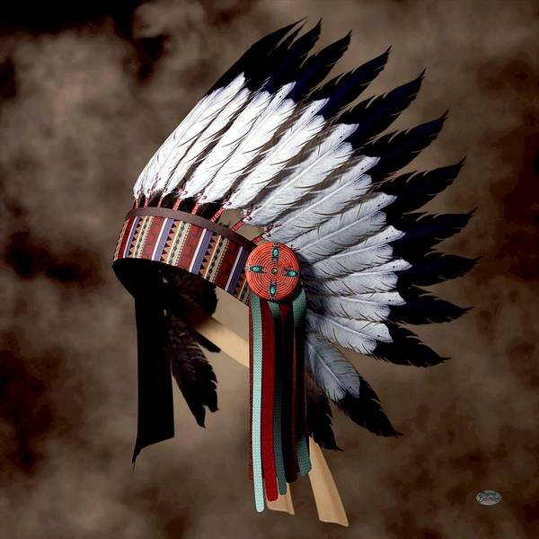 Tribal Digital Art - Warbonnet by Daniel Eskridge