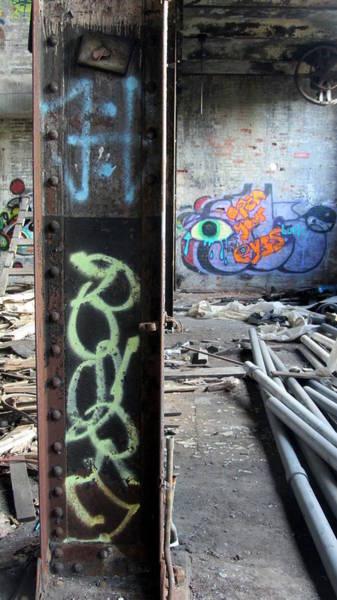 Photograph - Warehouse Graffiti Eyes 1 by Anita Burgermeister