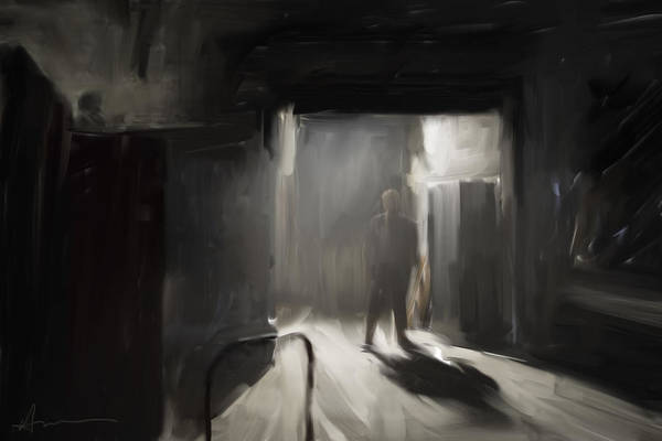 Moody Painting - Warehouse by H James Hoff