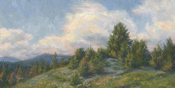 Outdoors Painting - Warm Breeze by Lucie Bilodeau