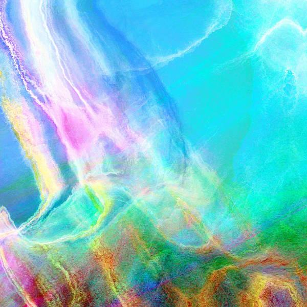 Mixed Media - Warm Seas- Abstract Art by Jaison Cianelli