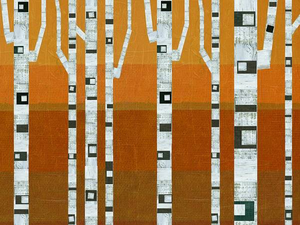 Painting - Warm Summer Birches by Michelle Calkins