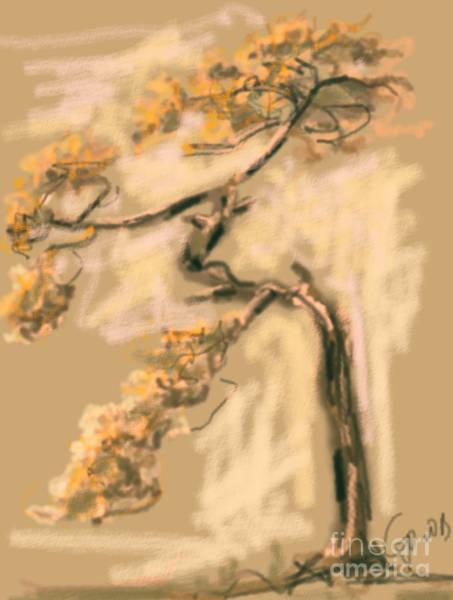 Painting - Warm Tree by Go Van Kampen