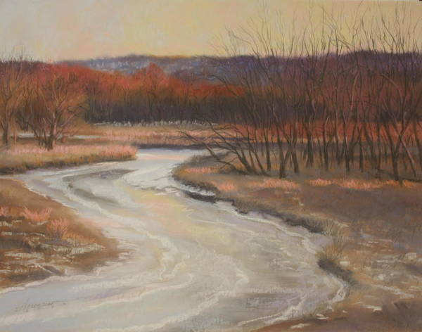 Pastel - Warm Winter At Catfish Corner by Sherri Anderson