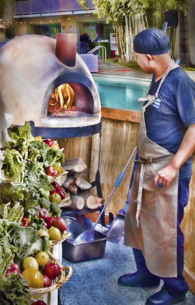 Photograph - Warming The Pizza Oven by Chuck Staley