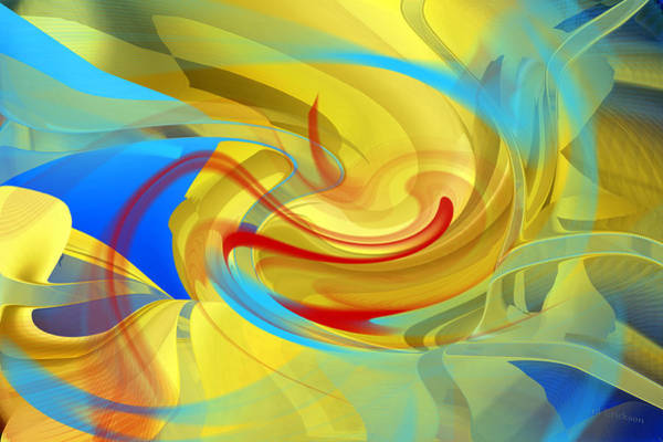 Digital Art - Warming To Summer - Abstract Art by rd Erickson