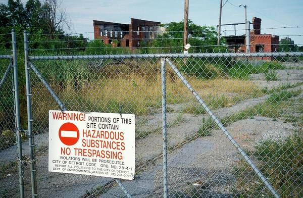 Contamination Photograph - Warning Sign At A Disused Factory by Jim West