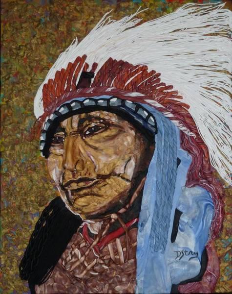 Mixed Media - Warrior Chief by Deborah Stanley
