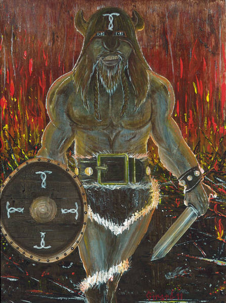 Painting - Warrior by Jason Girard
