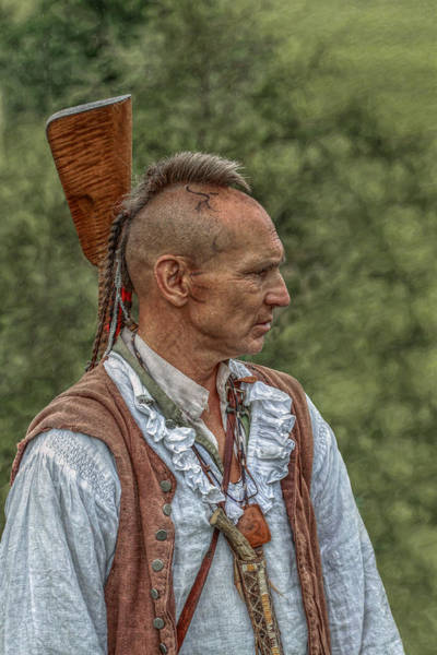Musket Digital Art - Warrior Portrait Bushy Run 250th  by Randy Steele