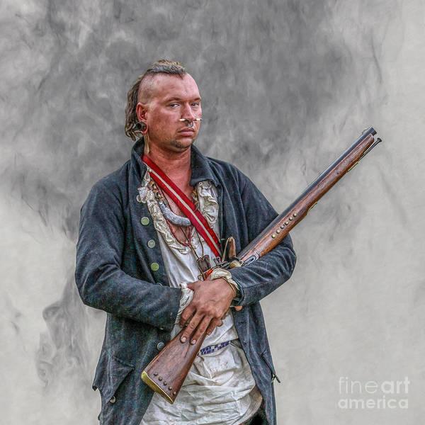 Musket Digital Art - Warrior With Musket Portrait by Randy Steele