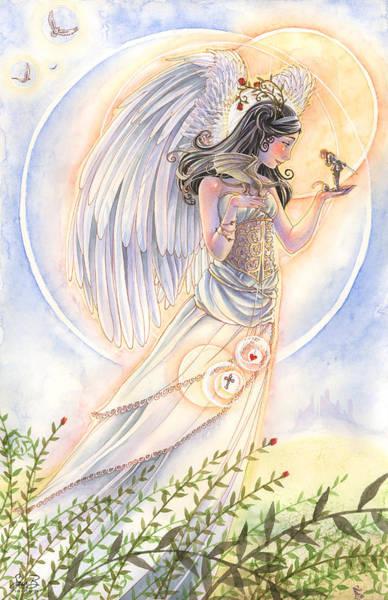 Sara Painting - Warrior's Angel by Sara Burrier