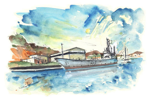 Cartagena Painting - Warship In Cartagena by Miki De Goodaboom