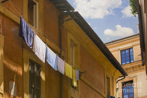Clothesline Photograph - Wash Day by Diane Diederich