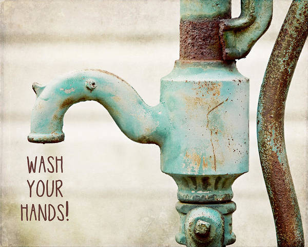 Lisa Russo Wall Art - Photograph - Wash Your Hands Child's Bathroom Decor by Lisa Russo
