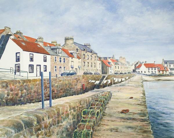 Fife Painting - Washday Cellardyke by Stella Turner