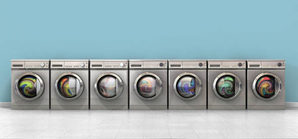 Front Digital Art - Washing Machine Full Single by Allan Swart