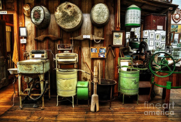 Tub Wall Art - Photograph - Washing Machines Of Yesteryear by Kaye Menner