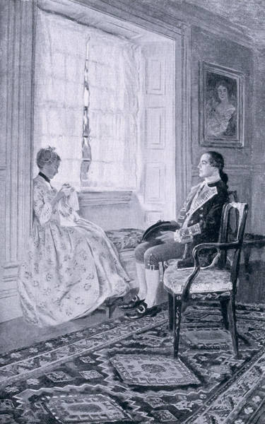 Brandywine Wall Art - Photograph - Washington And Mary Philipse, Illustration From Colonel Washington By Woodrow Wilson, Pub by Howard Pyle