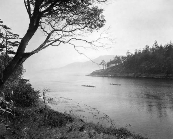 Wall Art - Photograph - Washington Canoeing, C1924 by Granger