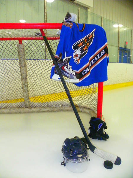 Photograph - Washington Capitals Blue Away Hockey Jersey by Lisa Wooten