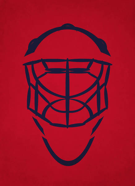 Washington Capitals Photograph - Washington Capitals Goalie Mask by Joe Hamilton