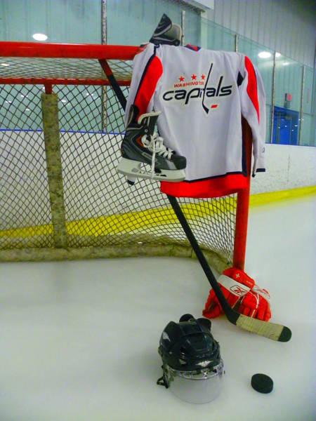 Photograph - Washington Capitals Home Hockey Jersey by Lisa Wooten