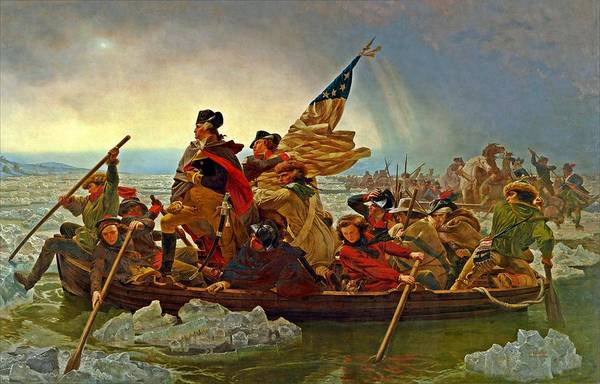 Painting - Washington Crossing The Delaware Emanuel Leutze 1851 by Movie Poster Prints