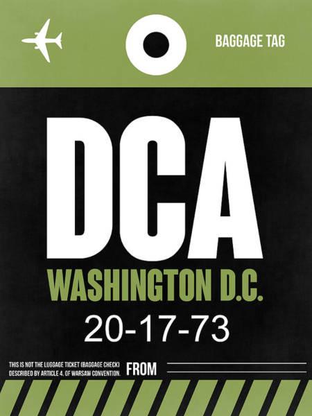 C Wall Art - Digital Art - Washington D.c. Airport Poster 2 by Naxart Studio