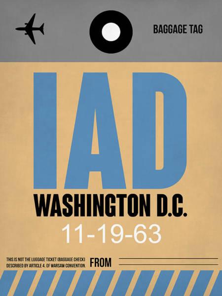 C Wall Art - Digital Art - Washington D.c. Airport Poster 3 by Naxart Studio