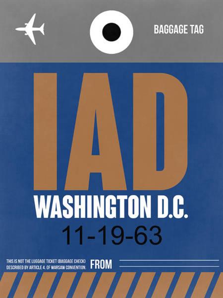 C Wall Art - Digital Art - Washington D.c. Airport Poster 4 by Naxart Studio