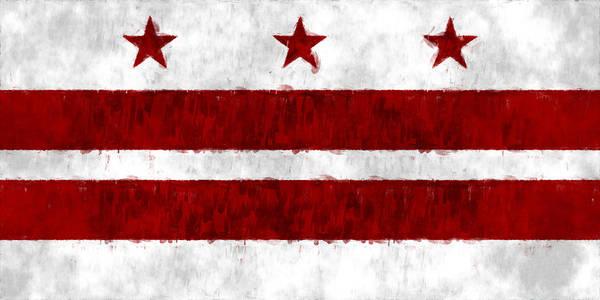 Wall Art - Digital Art - Washington D.c. Flag by World Art Prints And Designs
