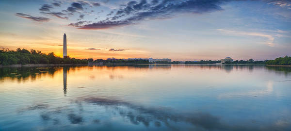 Tidal Photograph - Washington Dc Panorama by Sebastian Musial