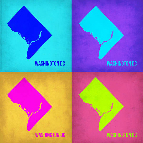 Wall Art - Painting - Washington Dc Pop Art Map 1 by Naxart Studio