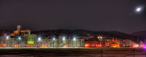 West Point Photograph - Washington Hall At Night by Dan McManus