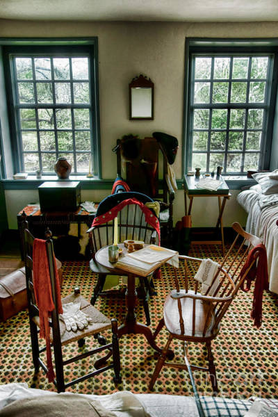Continental Army Photograph - Washington Headquarters Office by Olivier Le Queinec
