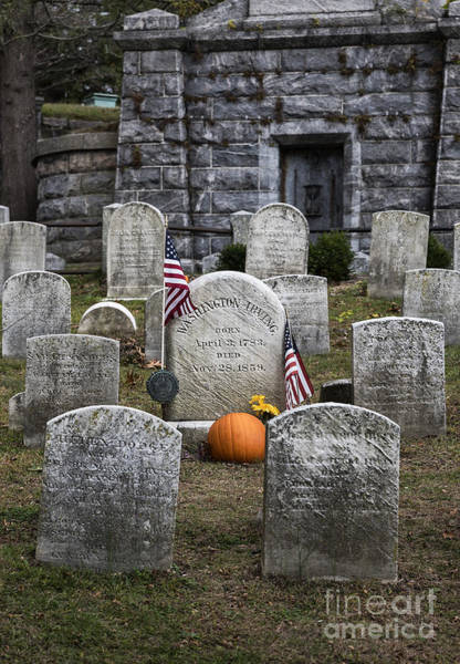 Wall Art - Photograph - Washington Irving Grave by John Greim