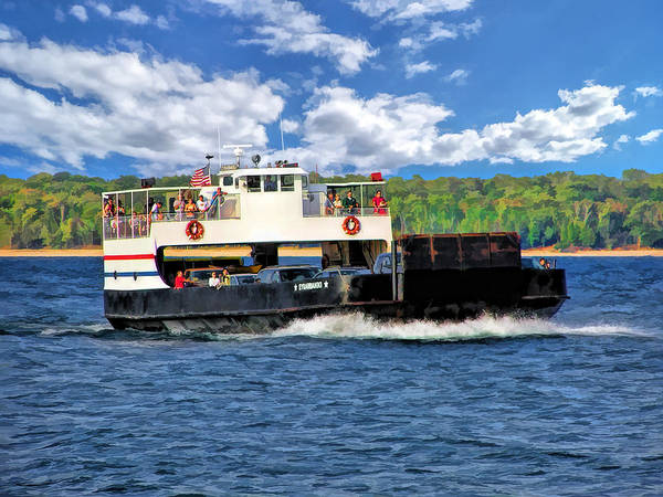 Painting - Washington Island Ferry Eyrarbakki Door County by Christopher Arndt