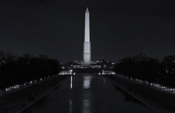 Photograph - Washington Monument At Night by Joan Carroll