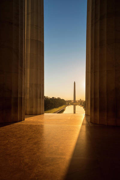 Freedom Photograph - Washington Monument From The Lincoln by Pgiam